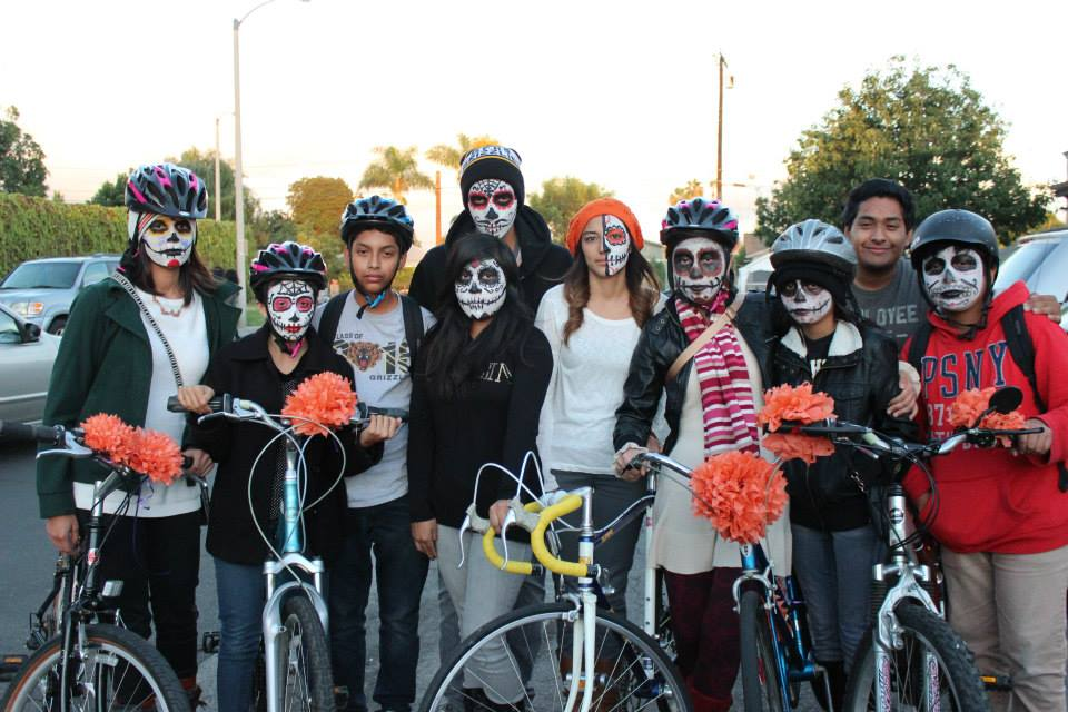 Day of the Dead Group Bike Ride in Santa Ana on Nov. 1